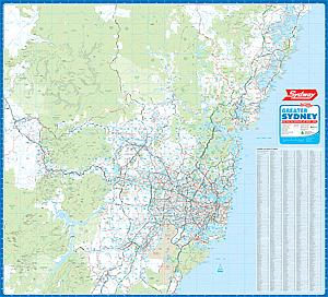 Framed wall maps nsw sydney wall map australia sydney wall map gumiabroncs Images