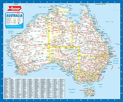 ausway australia coverage the map scale is the same as the green bordered australia map in the melwaysydwaybrisway a town index is listed also